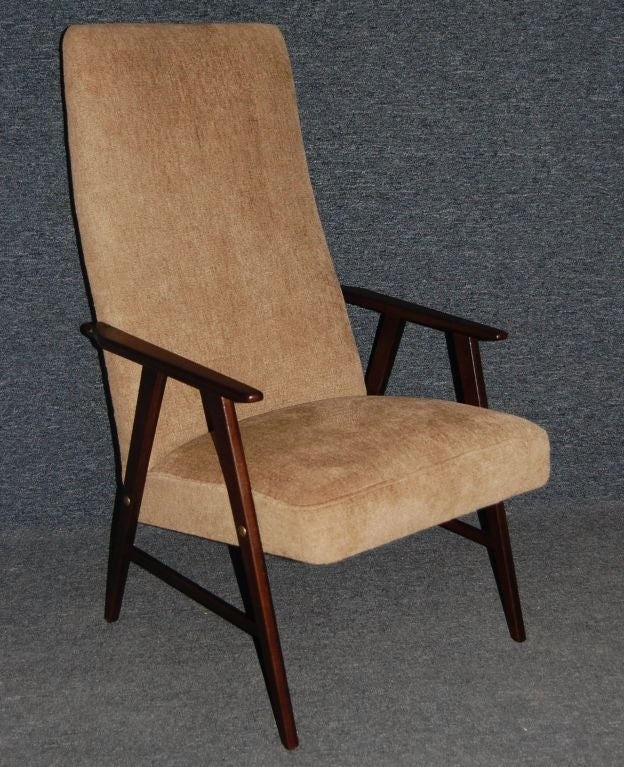 vintage swedish modern chenille armchair chairish