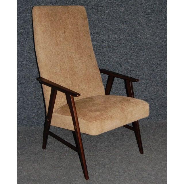 Chenille Armchair: Vintage Swedish Modern Chenille Armchair