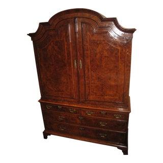 Incredible George I Burl Walnut Bureau Bookcase, circa 1720