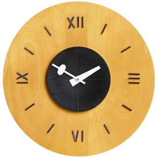 George Nelson for Howard Miller Birchwood Wall Clock