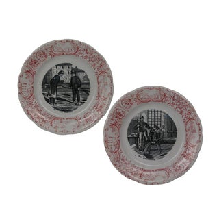 Antique French Military Plates - A Pair