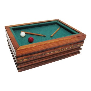 Art Deco Pool Table Cigarette Box