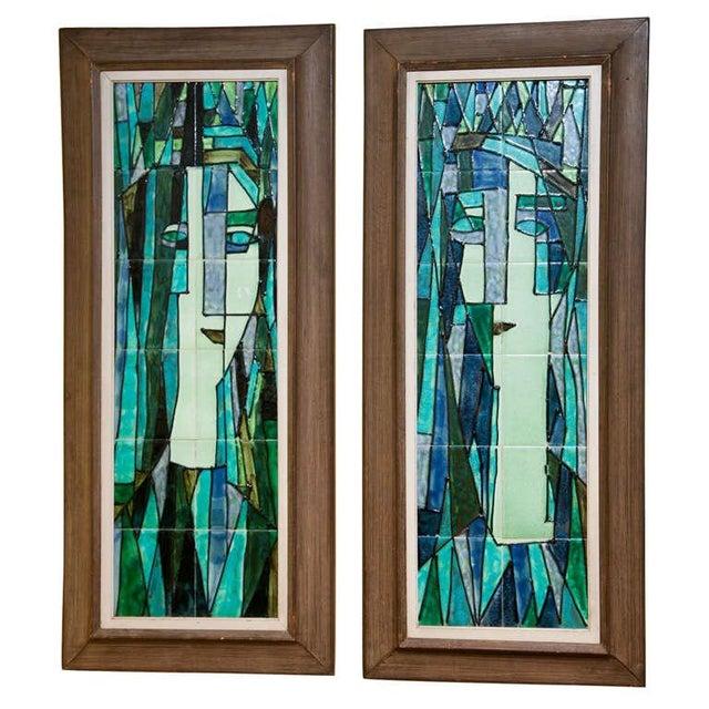 Art Deco Wall Panels: Harris Strong Art Deco Tiled Wall Panels - A Paor