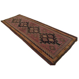 Masterpiece Antique Turkish Kilim Rug Large Runner Rare - 4′7″ X 13′2″