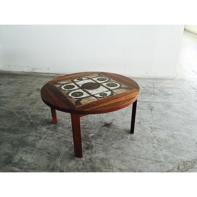 Vintage Danish Rosewood & Tile Top Coffee Table - Image 2 of 9