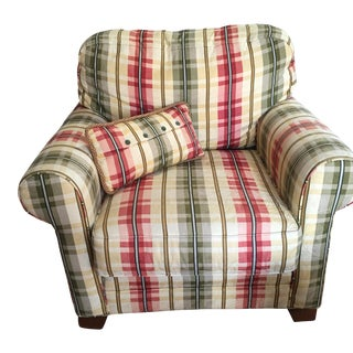 King Hickory Plaid Arm Chair