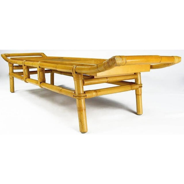 Image of John Wisner Long and Low Pagoda Form Bamboo Coffee Table