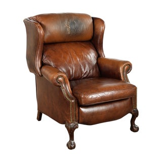 Vintage Reclining Brown Leather Chair