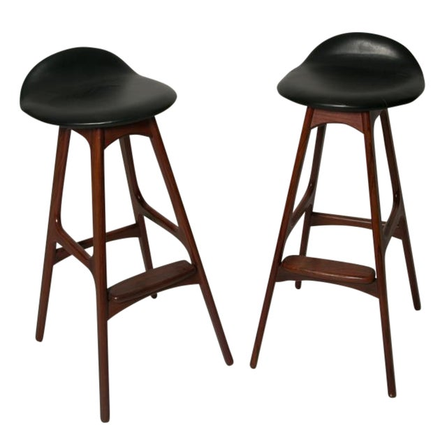 Erik buch bar stools pair chairish - Erik buch bar stool ...