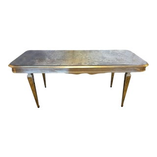 Antique Mirrored Hollywood Regency Decorative Dining Room Table
