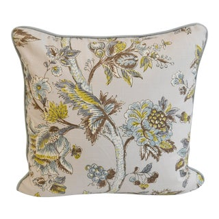 Kravet Jacobean Linen Print Pillow