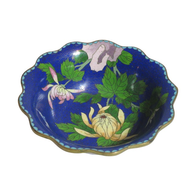Scalloped Cloisonné Bowl - Image 1 of 6