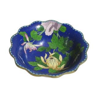 Scalloped Cloisonné Bowl