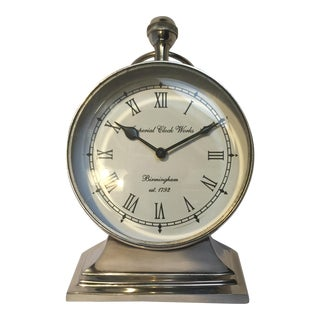 Silver Mantle Clock