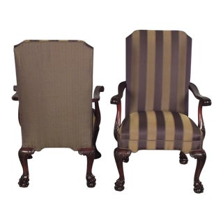 Traditional English Chippendale Armchairs - A Pair