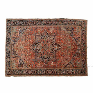 Traditional Heriz Burgundy Rug Carpet - 8′8″ × 11′5″