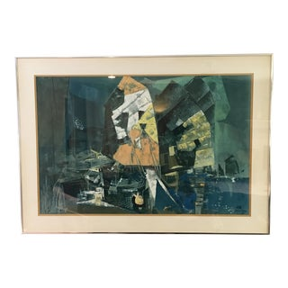 Vintage Mid-Century Abstract Lithograph