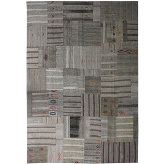 """Aara Rugs Inc. Hand Knotted Patchwork Kilim - 12'3"""" X 8'6"""""""