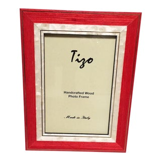 Orange Red Tizo Wood Frame