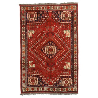 RugsinDallas Vintage Hand Knotted Wool Rug - 5' X 7'6""