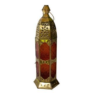 Moroccan Tangerine Candleholder Lantern