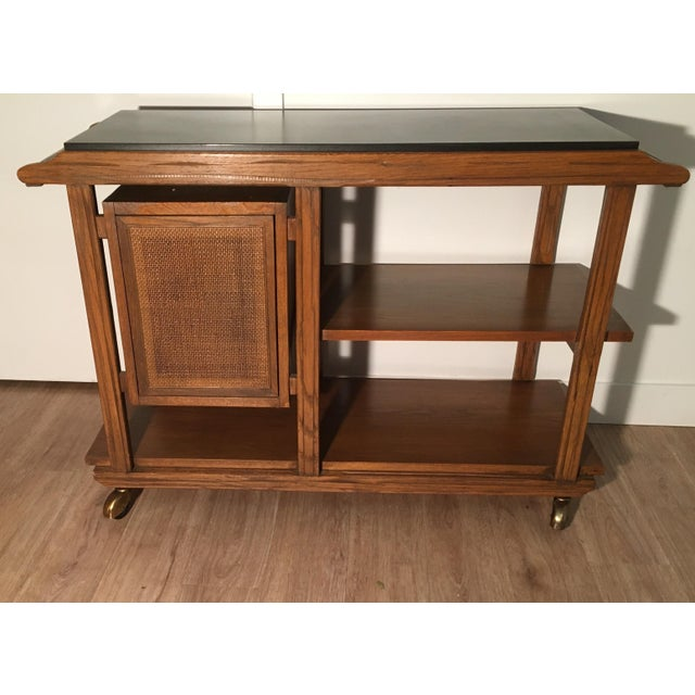Mid-Century A. Brandt Ranch Oak Serving Cart - Image 3 of 10