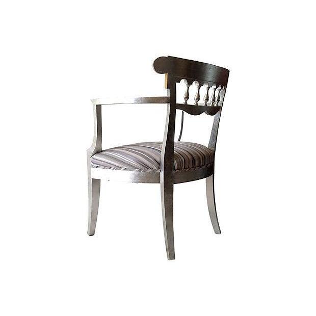 1950's Baker Silver Leaf Klismos Chair - Image 5 of 8