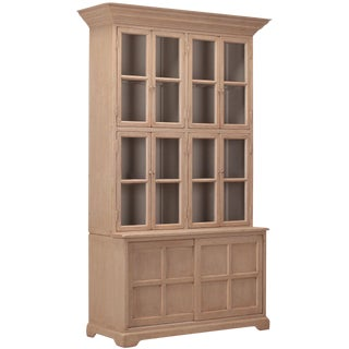 Sarreid LTD Wood & Glass China Cabinet