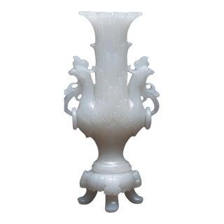White Nephrite Jade Vase