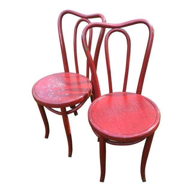Vintage Thonet Style Bentwood Cafe Chairs A Pair Chairish