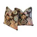 Image of Designer Kravet Lutron Espresso Pillows - A Pair