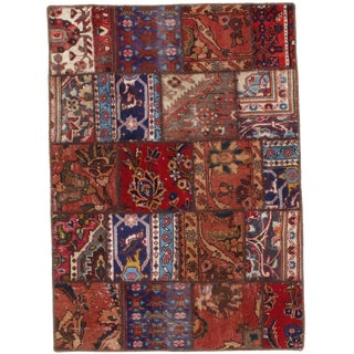 Pasargad N Y Persian Patch-Work Hand-Knotted Area Rug - 3′ × 4′2″