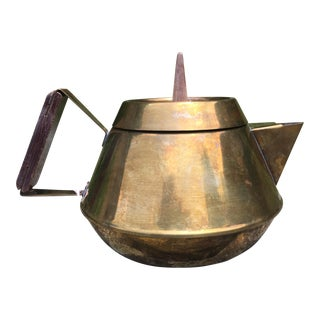 Mid-Century Modern Brass Tea Pot
