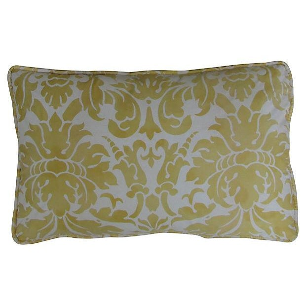 Elegant Italian Fortuny-Style Pillows, 2 Available - Image 2 of 4