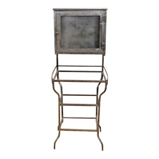 Antique American Medical Metal Cabinet