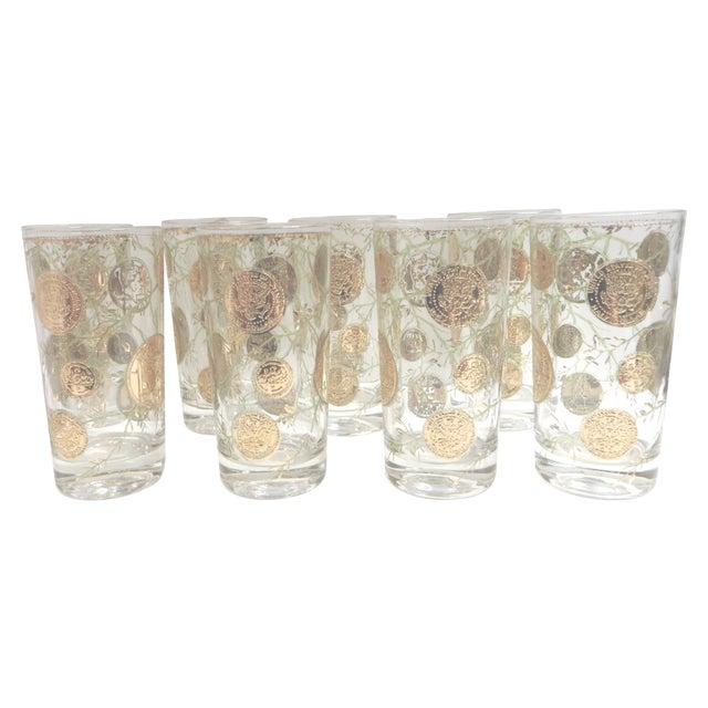 Image of Coin & Vine Highball Glasses - Set of 8