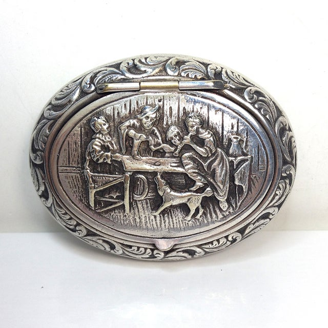 Engraved Silverplate Handheld Ashtray - Image 3 of 5
