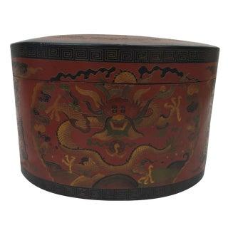 Vintage Dragon Lacquer Box