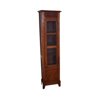 Antique 19th Century French Country Narrow 1 Door Cupboard