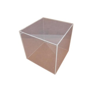 Vintage Lucite Cube Side Table