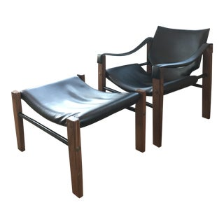 Mid-Century Maurice Burke for Arkana Safari Chair & Ottoman