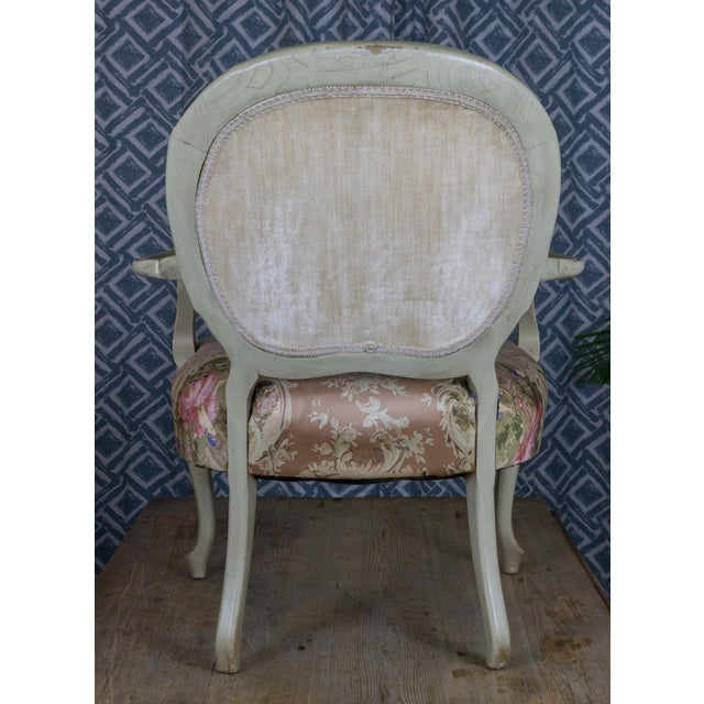 Vintage Louis XV Style Armchair - Image 4 of 7