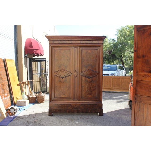 19th Century French Louis Philippe Walnut Armoire Period Chateau Circa 1850s - Image 4 of 11