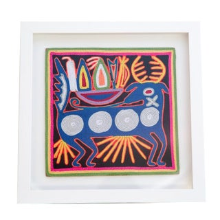 Huichol Yarn Painting W/ Custom Wood Frame