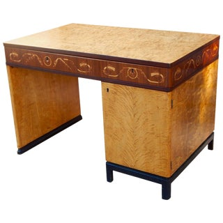 Swedish Art Deco Desk Ferdinand Lundquist Ca. 1930
