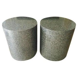 Mod Drum Side Tables, Paul Mayen Style, a pair