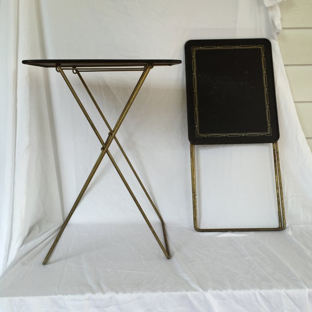 Image of Midcentury Folding Tables - A Pair