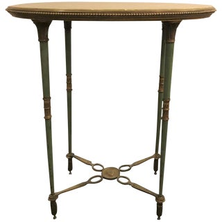 French Bronze and Onyx Table Signed Ovington