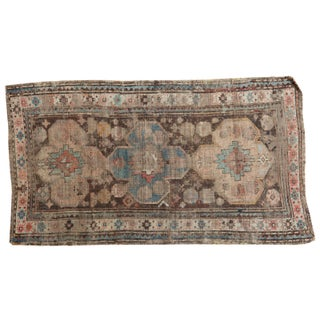 "Distressed Antique Caucasian Rug - 3'6"" X 5'11"""