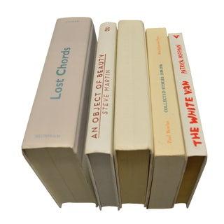 White Hardbound Decorative Book - Set of 5
